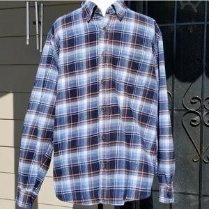 Original Weatherproof Vintage Plaid Blue shirt XL